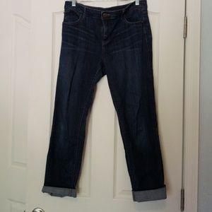 Dark ankle jeans